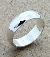 Wholesale 925 Silver Rings Jewelry Womens Mens Simple Smooth Wedding Ring Jewellery Hot