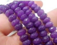 Wholesale 5x8mm Faceted Purple Jade Rondel Gems Loose Beads