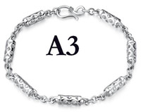 925 sterling silver bracelet - Mixed New Fashion Sterling Silver Jewelry Dragon Bracelets Styles K White Gold Six Models