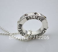 believe pendant - hot sale with crystal believe achieve dream pendant necklace jewelry
