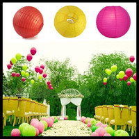 Wholesale 20cm inch Chinese Paper Lantern colors Beach Wedding Hanging Lanterns Japanese style pendant lampshade Patio Decorations hot selling