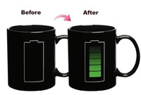 Wholesale Battery Color Changing Cup Amazing Ceramic Cup Coffee Cup Temperature Changing HG128