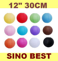 Wholesale 12 quot CM Good Quality Chinese Paper Lanterns Wedding Party Decorations
