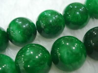 Wholesale DIY Beads MM Green Emerald Round Gemstone Loose Bead AAA Grade