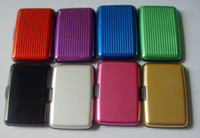 Wholesale Aluminium Aluma CREDIT CARD HOLDER WALLET CASE PURSE METAL Totes Wallets