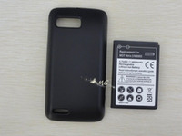 4000mAh atrix phone - 4000mAh Extended cell phone battery with black Cover for Motorola Atrix MB865