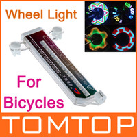 Wholesale Colorful Rainbow LED Bikes bicycle Wheel Signal Lights Tire Wheel Valve Led Flash Light H8761