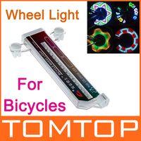Arcobaleno colorato 32 LED Moto della Ruota di bicicletta, Spie di segnalazione Pneumatico Ruota la Valvola di Flash Led H8761