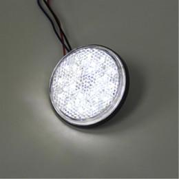 2* LED Reflectors Round Brake Light Universal Motorcycle Car Truck White moto turn light led lamps