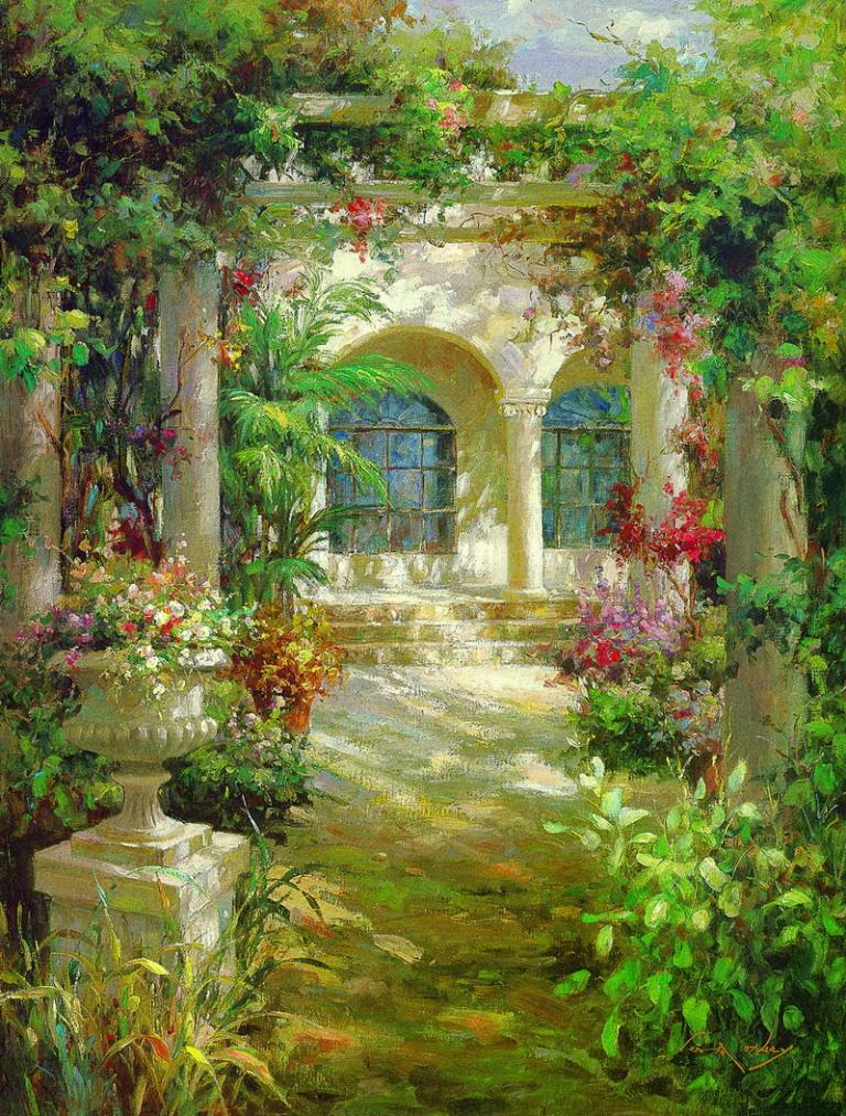 flower garden paintings - Flower Garden Paintings