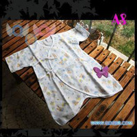 Wholesale NISHIMATSUYA butterfly cotton baby clothing newborn full body close fitting shirt baby romper summer
