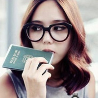 Wholesale Fashion big box black blue film plain mirror myopia sheet glasses non mainstream eyeglasses frame