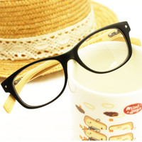 Wholesale fashion wood grain eyeglasses frame glasses frame bamboo plain mirror general meters glasses