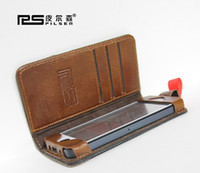 Wholesale Hotselling Original Pilsen Retro Classical Design Book Case For Iphone Real Leather Cases Holder