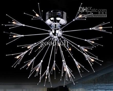 2017 New Modern Fashion Fireworks Metal Ceiling Lamp Chandelier – Modern Metal Chandelier