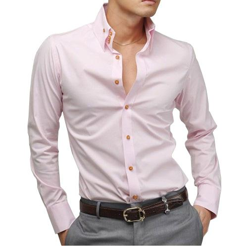 2013 New Mens High Collar Stylish Slim Fit Shirt Busniess Casual ...