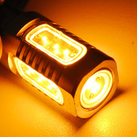 Wholesale 2 T20 Super Bright Turn Signal Lights Bulbs W high power led lamp Amber yellow color