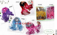 Wholesale Luxury Women shawl chiffon imitation silk long scarf beach scarves wraps Sarongs mixed designs colors xmas