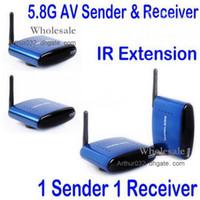 wireless video camera transmitter receiver - Newest GHz Wireless A V Audio Video Transmitter Receiver For DVD DVR CCD Camera IPTV Digital TV