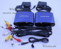 Wholesale IN STOCK GHz Wireless A V Audio Video Transmitter Receiver Networking amp Communications For DVD DVR CCD Camera IPTV TV Blue