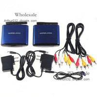 Wholesale Big Discount Blue GHz Wireless A V Audio Video Transmitter Receiver For DVD DVR CCD Camera IPTV TV Computer