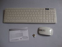 Wholesale Best Arabic keyboard and English G wireless Ultrathin keyboard mouse combo or Desktop Laptop PC