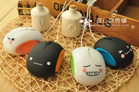 Wholesale 10 Cute Cartoon Steamed Bread USB Photoelectricity Lover Eggs Wired Mouse with Four Colors