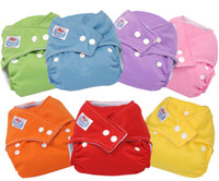 Wholesale Baby Washable Cotton Nappies Diapers Insert Pocket Nappies Baby Soft Diaper