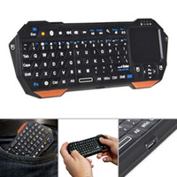 Wholesale Mini Portable Wireless Bluetooth Keyboard Multi Touch Pad Mouse Backlight m Remote for TV BOX Tablet PC