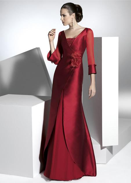 New Arrival A Line Mother of Bride Dresses With Long Sleeves For ...