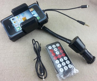 Wholesale 3 in FM Transmitter with Car Charger amp mm audio cord amp remote control for iphone iphone5