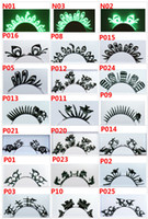 Wholesale hot paper cutting art Eye lashes party accessory tunoscope neon Unique Exaggerated