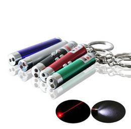 Wholesale Envío libre in1 lápiz láser rojo del laser linterna LED UV linterna llavero pc de la batería