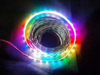 Wholesale HOT IP65 IP67 Waterproof M Roll WS2811 LED Digital Strip leds M With IC V WS2811 LED RGB Strip