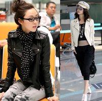 Wholesale New Women Punk Zip Rivet Lapel Blazer Coat PU Leather Motorcycle Moto Jacket