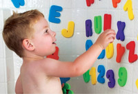 baby science - Children s toys Munchkin Munchkin Bath ALPHABETS Letters amp Numbers stick on Baby bathroom Toy colorful