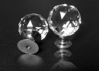 Wholesale 18pcs clear crystal glass drawer knobs handle pulls bed room cabinet