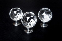 Wholesale 45pcs Clear Round Crystal Glass Cabinet Drawer Door Pull Knobs Handles mm