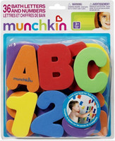 Wholesale Baby Toddler Kids toys Munchkin Munchkin Bath ALPHABETS Letters amp Numbers stick on Baby bathroom Toy