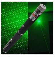Wholesale 200pcs mw green laser pointer pen with star head laser kaleidoscope light