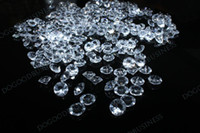 Wholesale 10000 pieces mm clear Diamond Confetti Table Scatter Wedding Favour Party Decoration