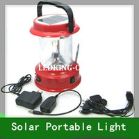 Wholesale 1pc Solar Emergency Light Outdoor Portable Light With Radio and Charge for Cellphone