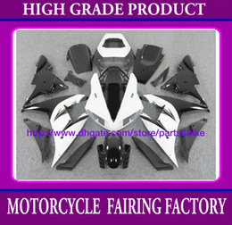 Fairings body kit for YAMAHA YZF R1 2002 yzfr1 2002 yzf r1 02 03 fairing kit silver black white RX6b