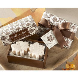 Wholesale maple leaf shaped handmade soap wedding gift For Wedding