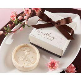 Wholesale 20pcs cherry blossom shape handmade soap scented decorative soaps For Wedding