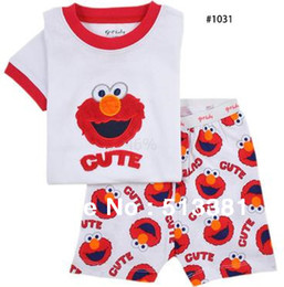 Wholesale sets cotton children pajamas sleepwear suits baby pajamas short sleeve boy girl