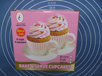 Wholesale Bake amp Serve CupCakes Dish Silicon Cup In A Color Box