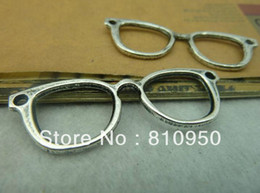 Wholesale 19 mm Metal Alloy Antique Silver optical frames Jewelry connection Vintage Charms Jewelry Findin