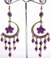 Wholesale 100 New Cinnamon Earrings Vintage Crystal Hoop Size mm mm B48M