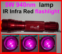 Wholesale Ultrafire B W nm Infrared Radiation IR LED Night Vision Flashlight Torch